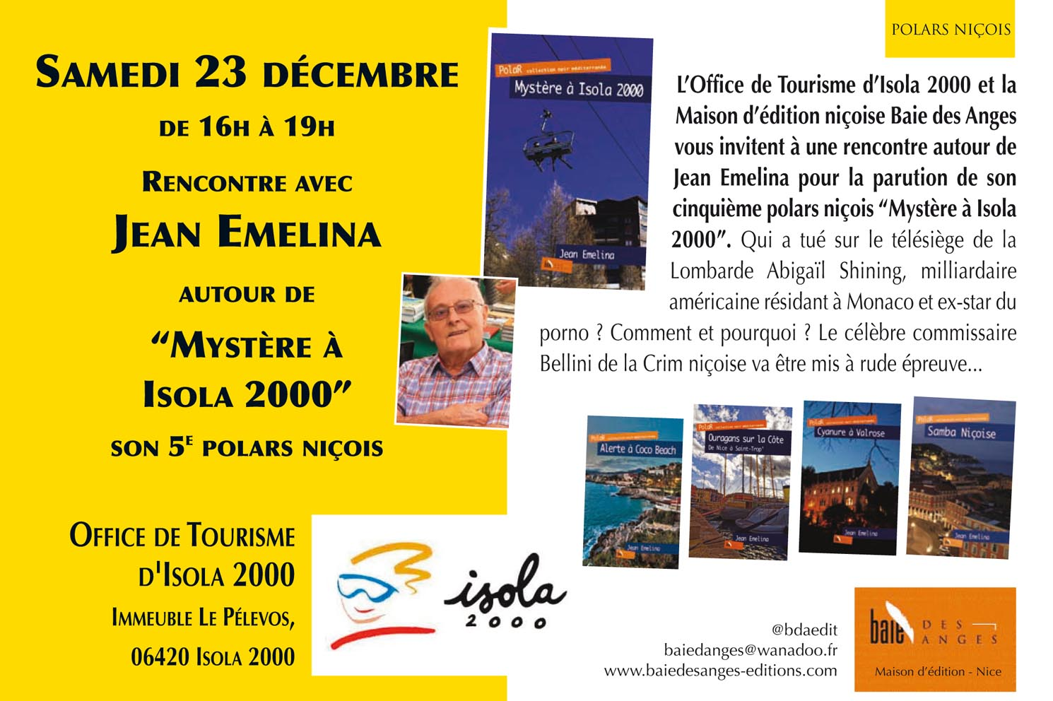 2017 baie des anges ditions - Isola 2000 office de tourisme ...